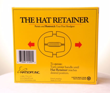 Hat Retainer box back