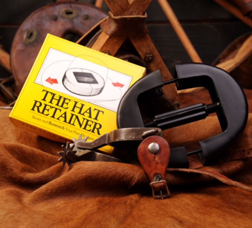 hat retainer with box and spurs