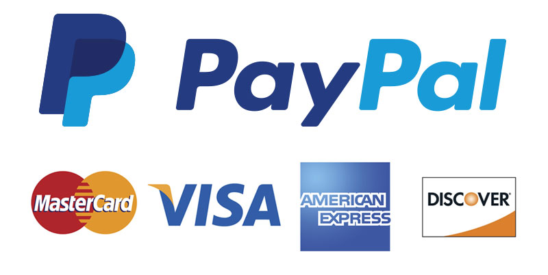 Paypal and major credit cards accepted securely